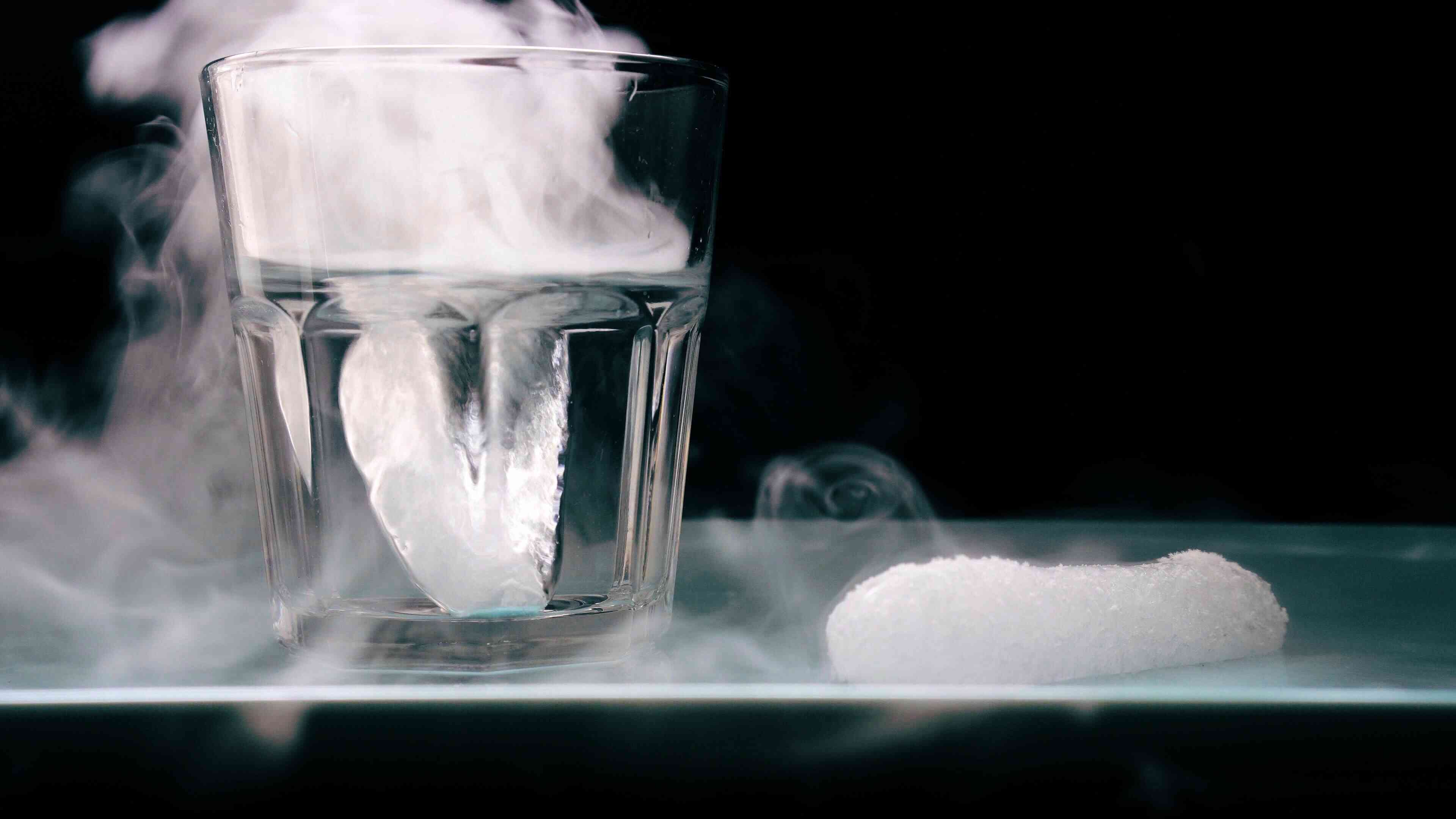 Dry ice is the name for solid carbon dioxide.