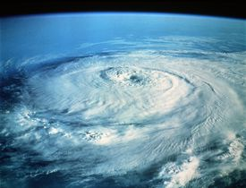 hurricane off the coast of the Gulf of Mexico