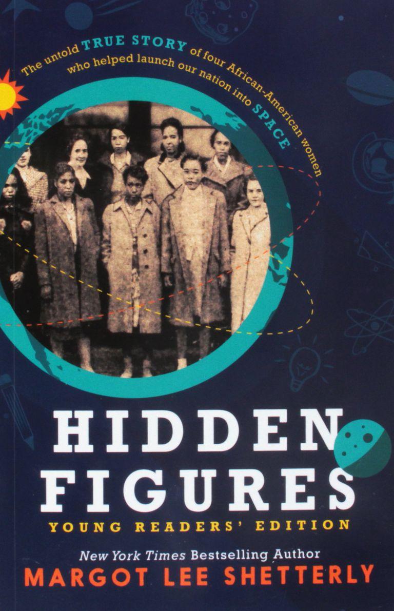 """Hidden Figures"" book cover art."
