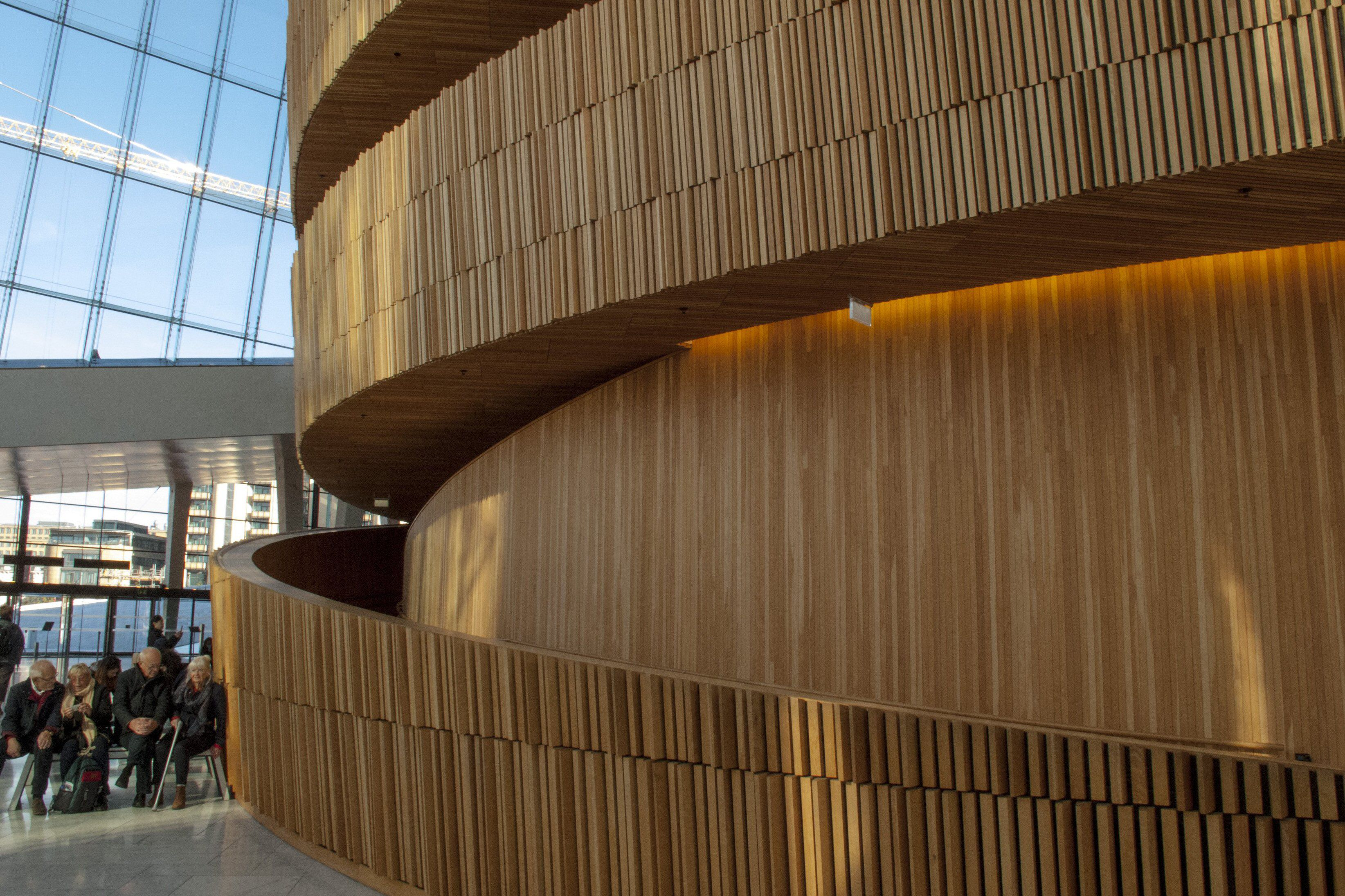 """""""Wave Wall"""" at the Oslo Opera House"""