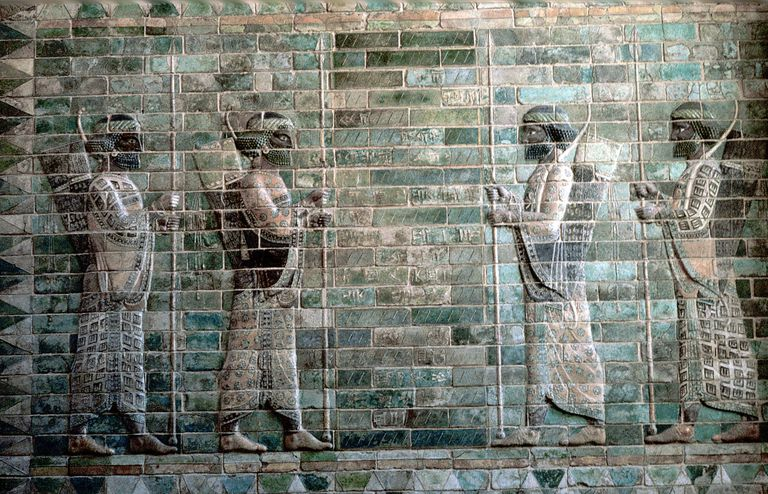 Relief showing archers of the Persian Royal Guard, Palace of Darius I, Susa, c500 BC.