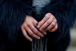 A deep blue mood ring color is associated with feelings of peace and calm.