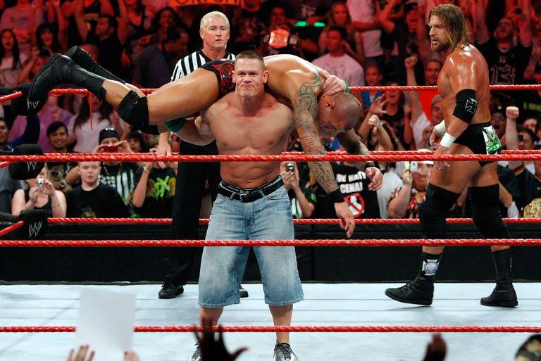 John Cena battles Randy Orton