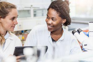 Female Scientists Discussing
