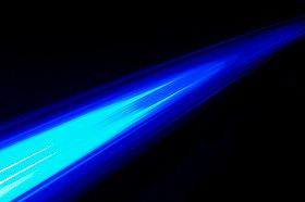 angel light ray blue