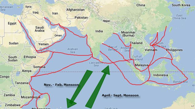 Map Of Asia In 500 Ad.Indian Ocean Trade Routes Asian History