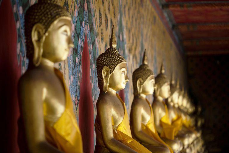 Golden Buddhas at Wat Arun