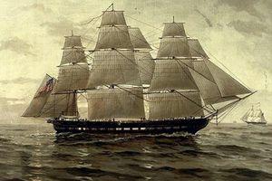 USS Chesapeake under sail