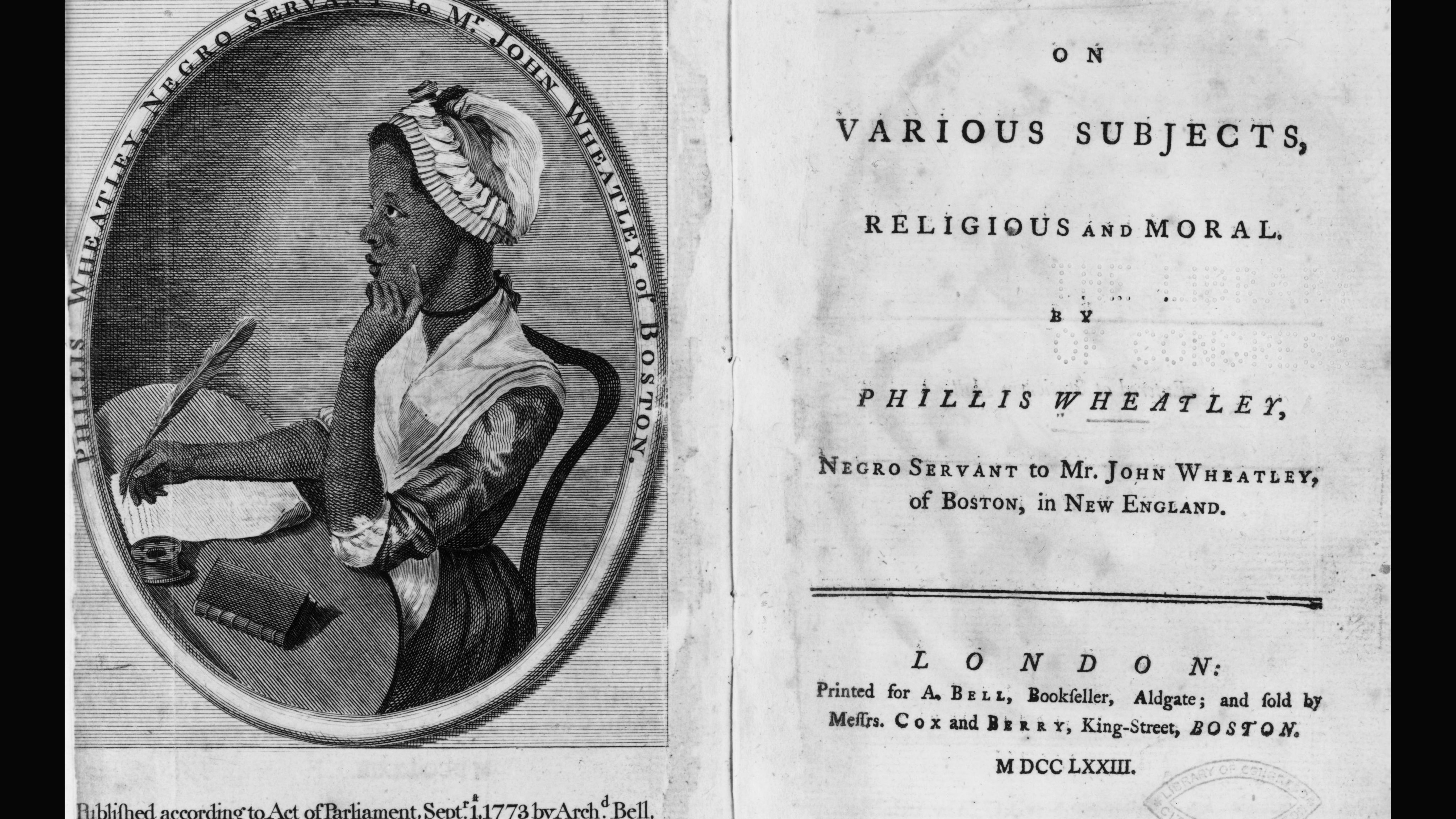 Slave Poet Phillis Wheatley - An Analysis of Her Poems