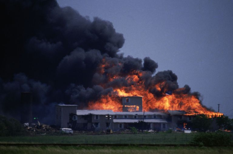 Branch Davidian Compound Burning