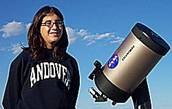 A typical type of backyard-type telescope.