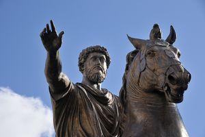 Equestrian statue of Marcus Aurelius in Rome