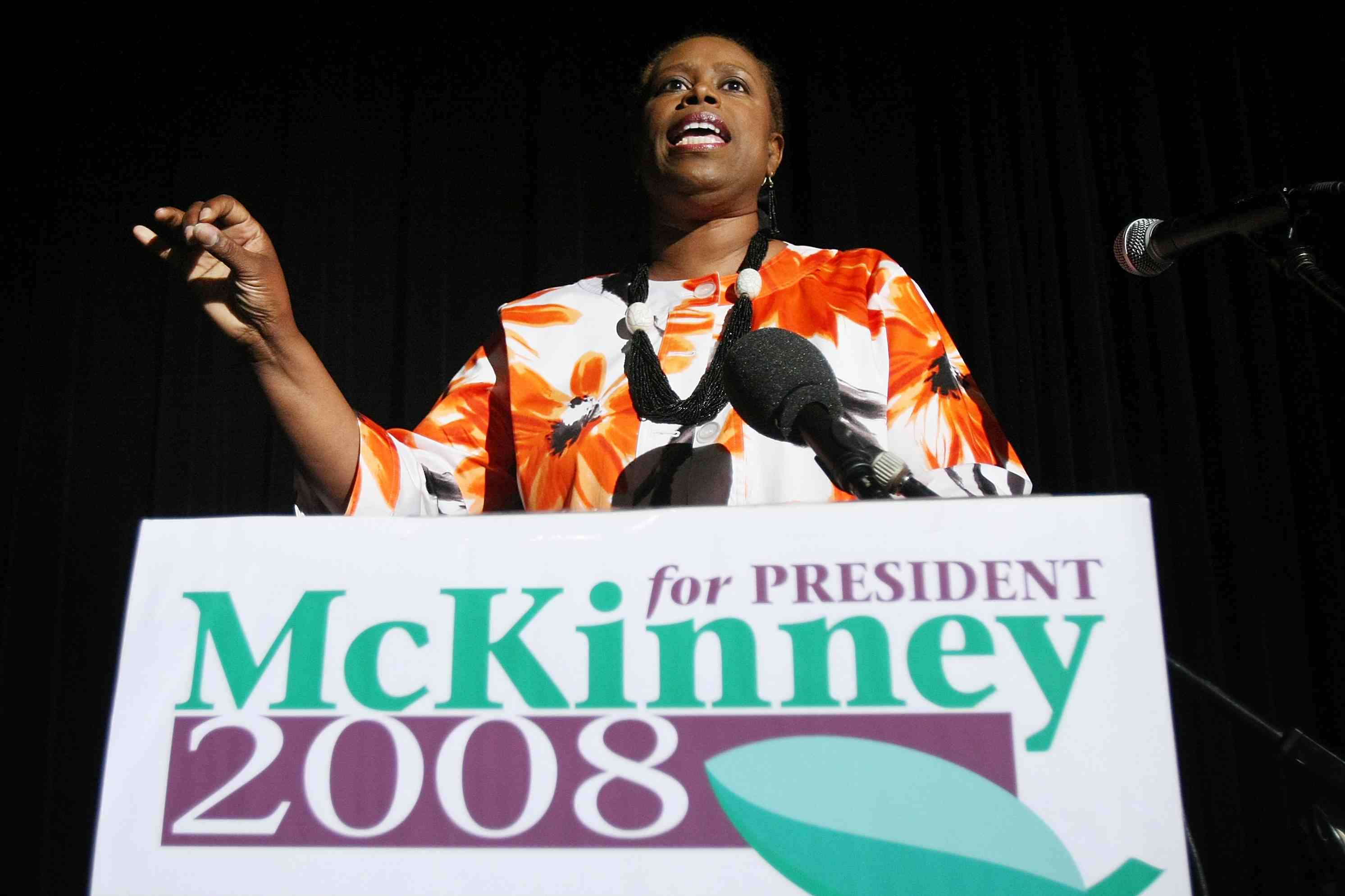 Green Party Presidential Candidate Cynthia McKinney, 2008