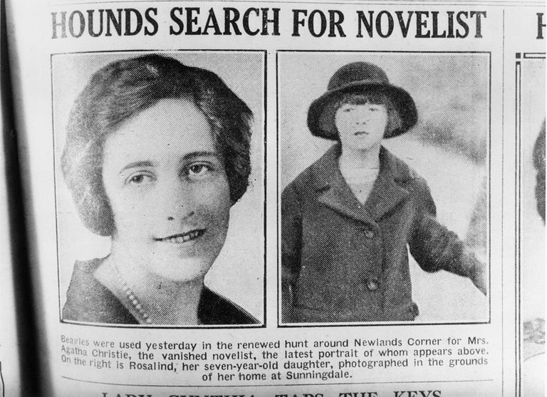 Agatha Christie has gone missing.