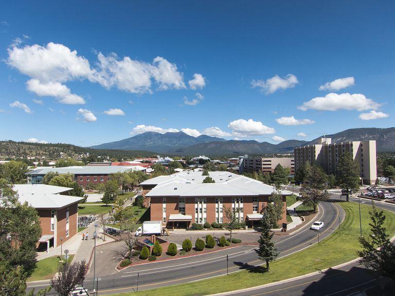 NAU campus on sunny day