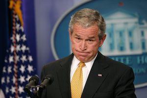 George W. Bush at a press conference