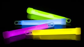 Glow sticks in various colors