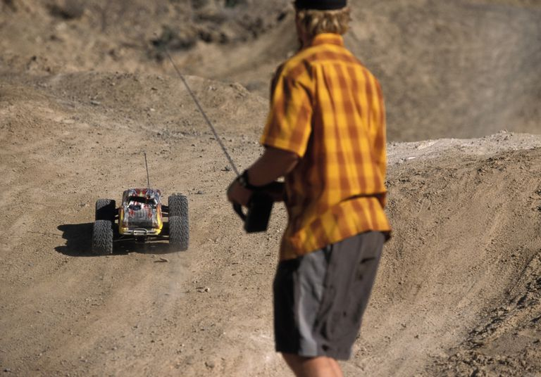 Man with RC truck