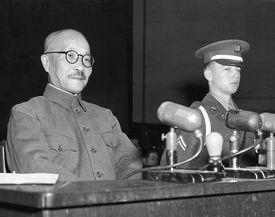 Hideki Tojo at War Crimes Tribunal, 1947