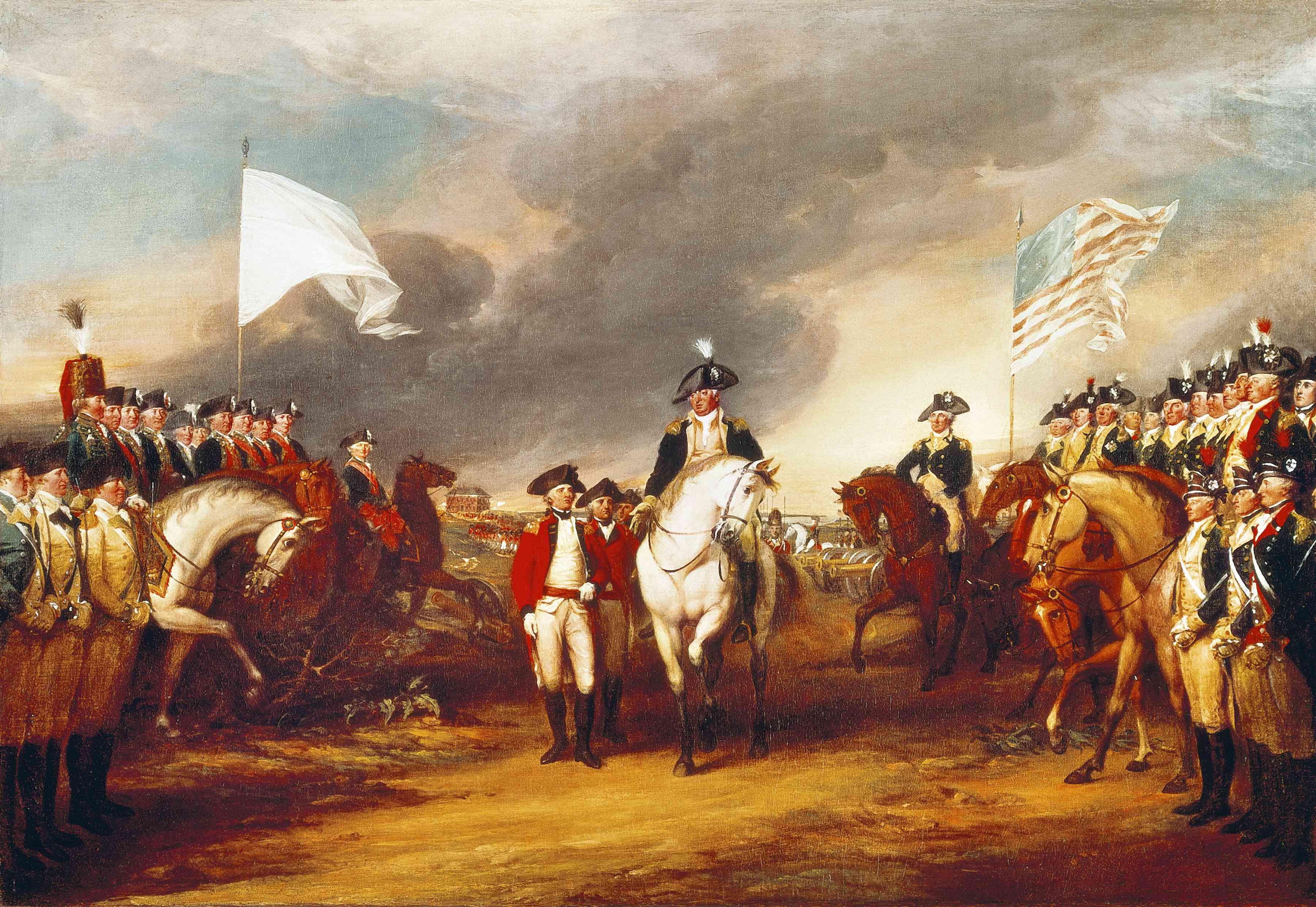 The surrender of Cornwallis at Yorktown, October 19, 1781