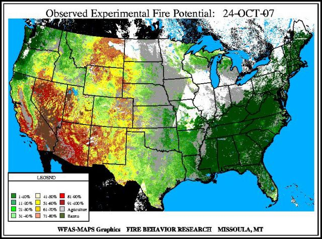 Current National Wildfire Maps And Conditions