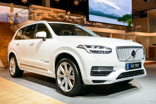 White Volvo Xc90 Mid Size Luxury Crossover Suv Front View