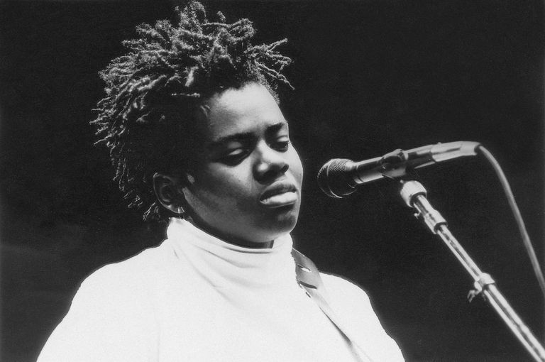 American singer-songwriter Tracy Chapman in performance, 1988.