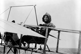 Harriet Quimby in the Moisant monoplane, 1911