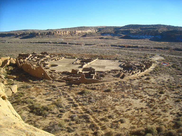 Areal of Pueblo Bonito, Chaco Canyon.