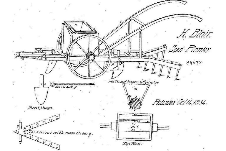 Henry Blair - Seed Planter drawings for patent