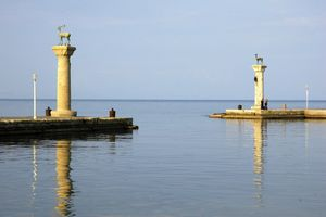 Site of the Colossus of Rhodes at Mandraki harbour