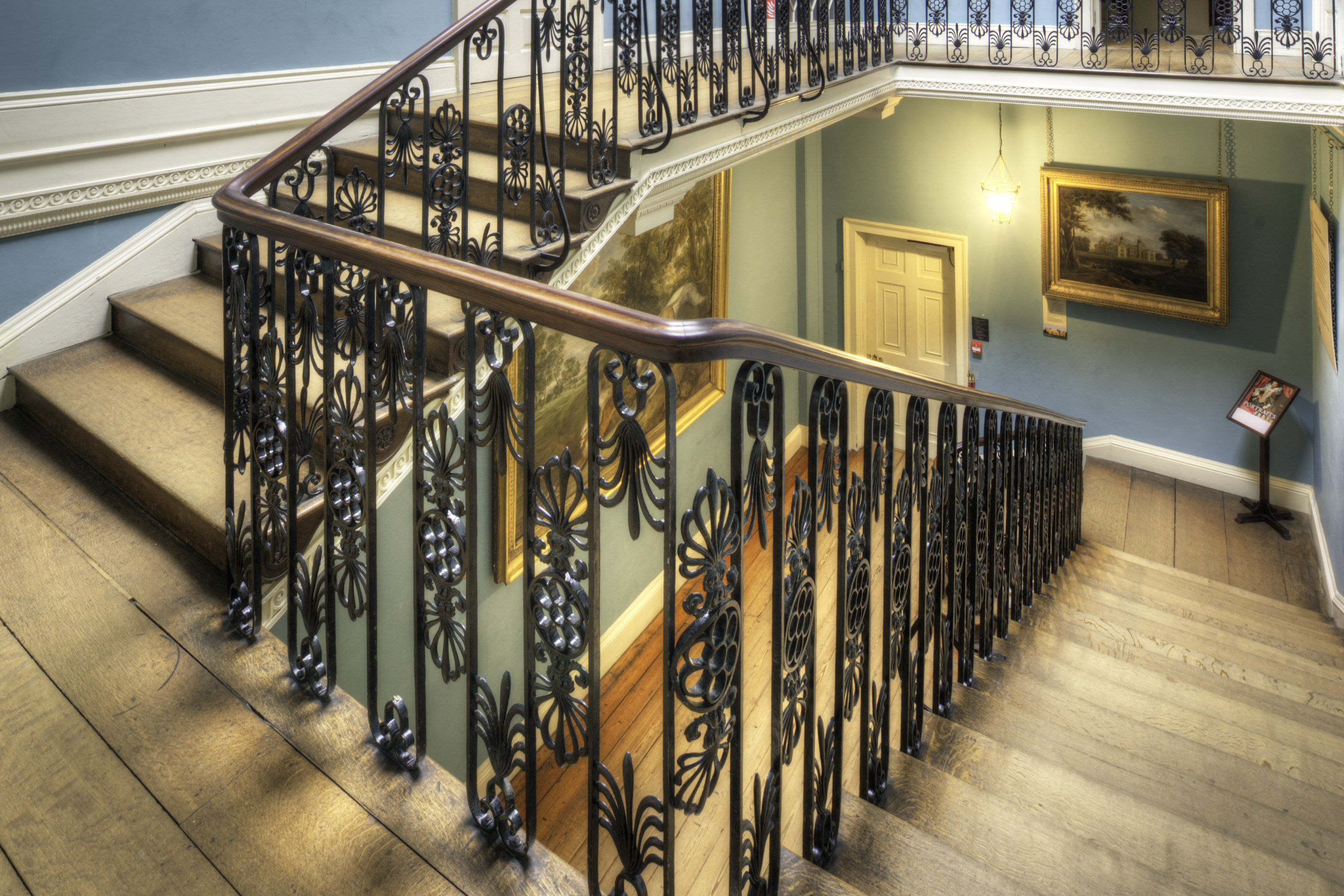 Decorative Iron Balusters on the Great Stairs Kenwood House Hampstead London