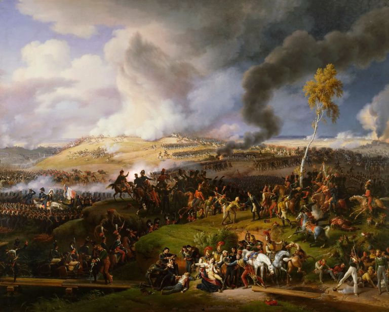 The Battle of Borodino on August 26, 1812, by artist Lejeune, Louis-Francois, Baron (1775-1848). Found in the collection of Musée de l'Histoire de France, Château de Versailles. Tchaikovsky uses five cannon blasts in his 1812 Overture to symbolize this battle and the beginning of Russia's victory in the war.