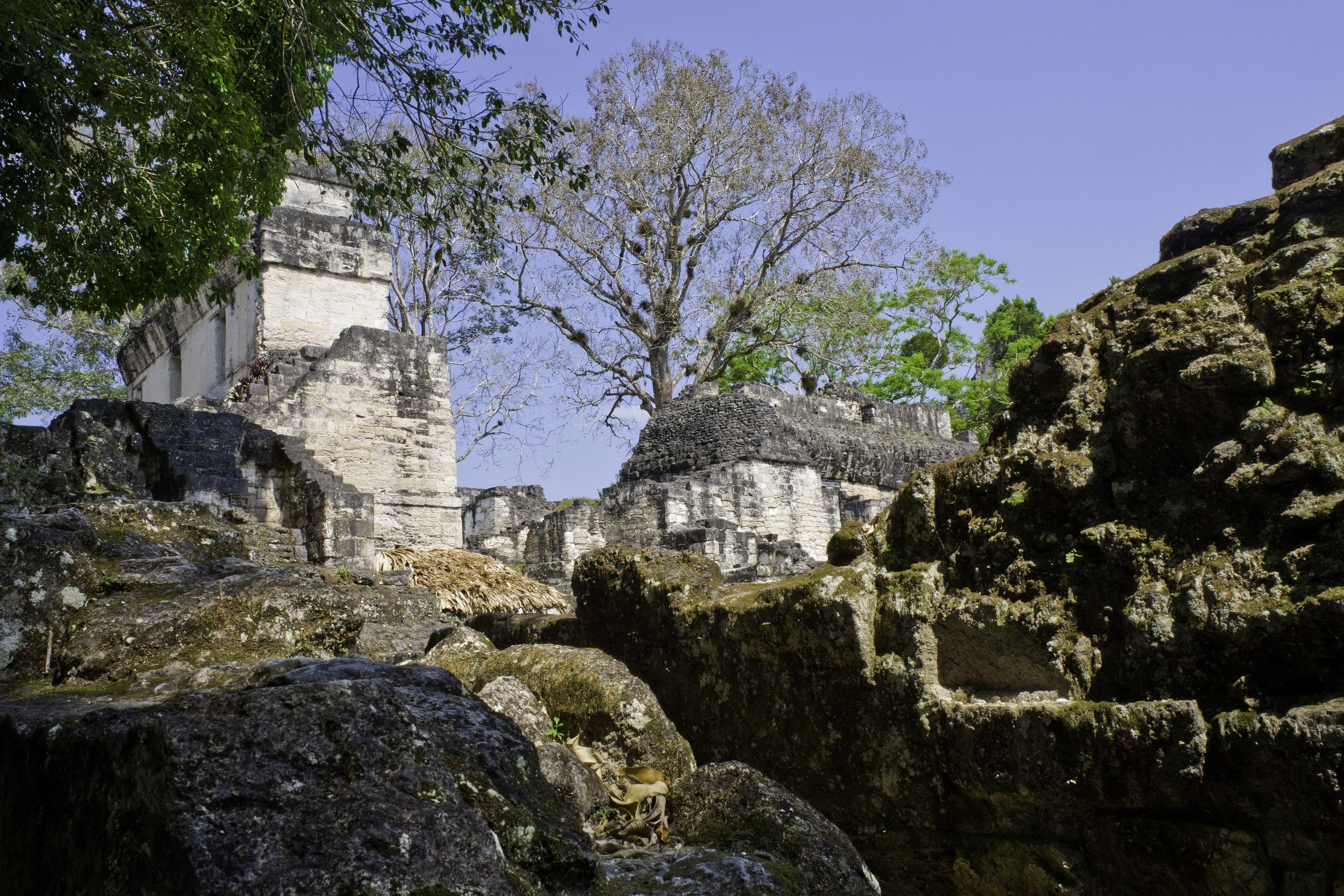 stone buildings among a rocky terrain