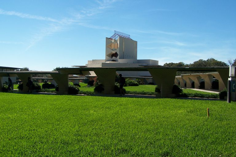 Esplanade Leads to Pfeiffer Chapel at Florida Southern College