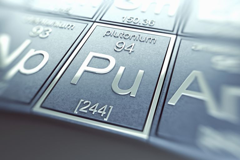 Plutonium tile on the Periodic Table.