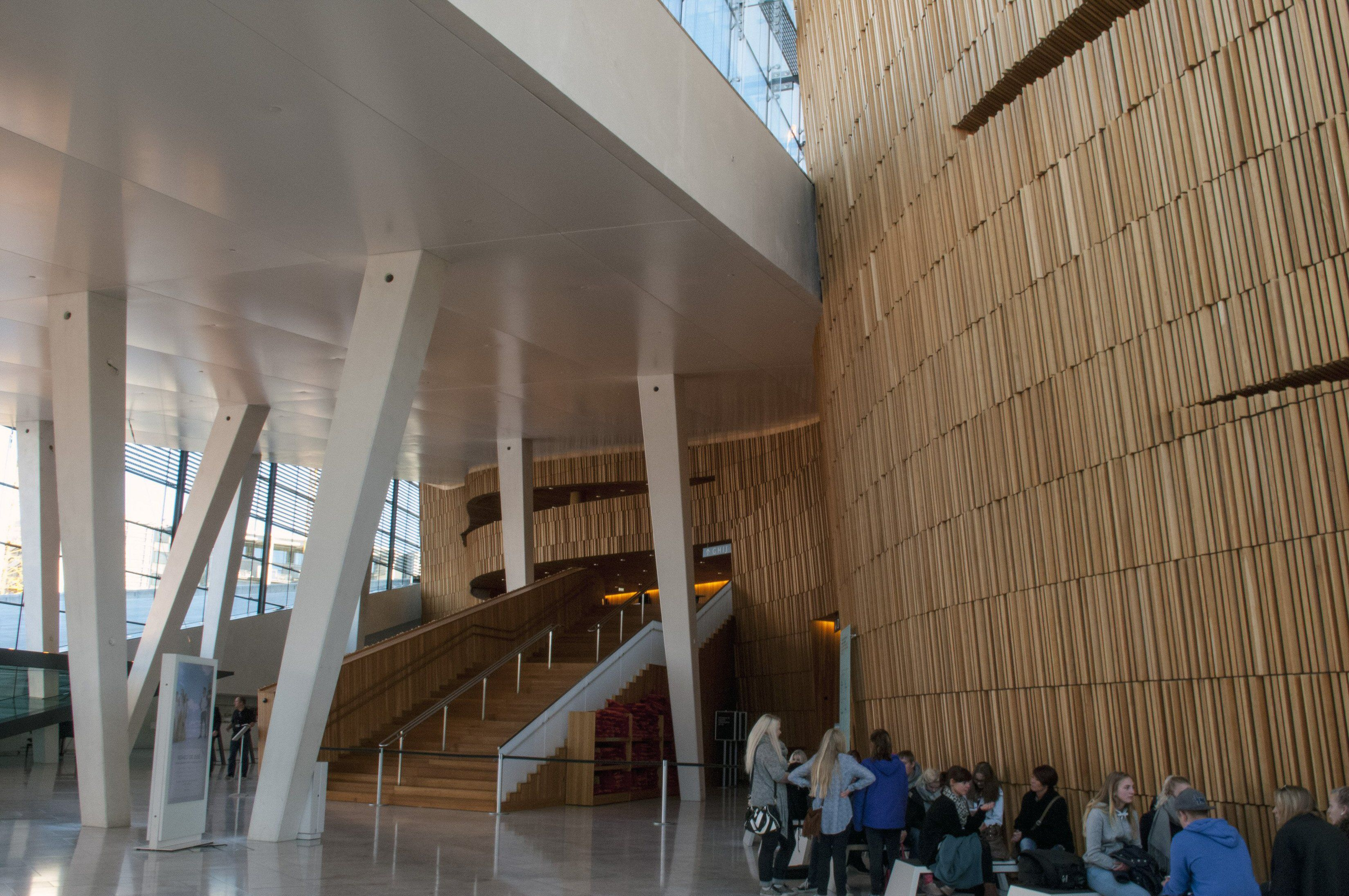 Entering Into the Main Stage of the Oslo Opera House