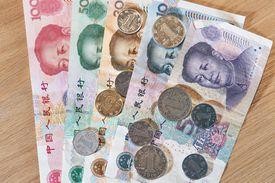 Chinese RMB banknotes Yuan