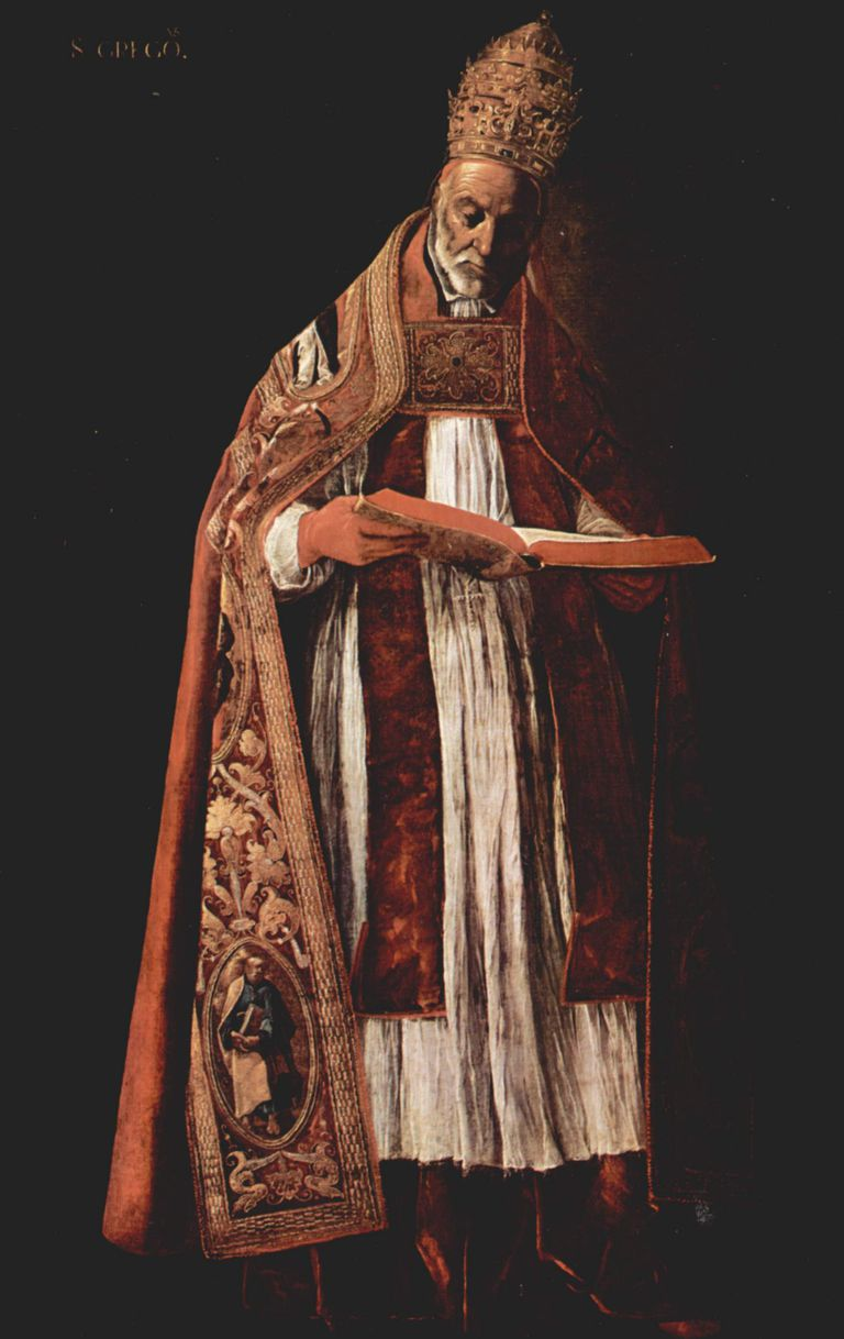 Portrait of Pope Gregory I by Francisco de Zurbaran