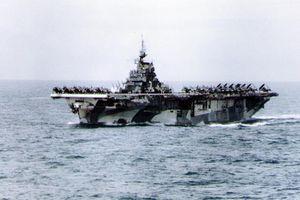 USS Hornet (CV-12) at sea during World War II