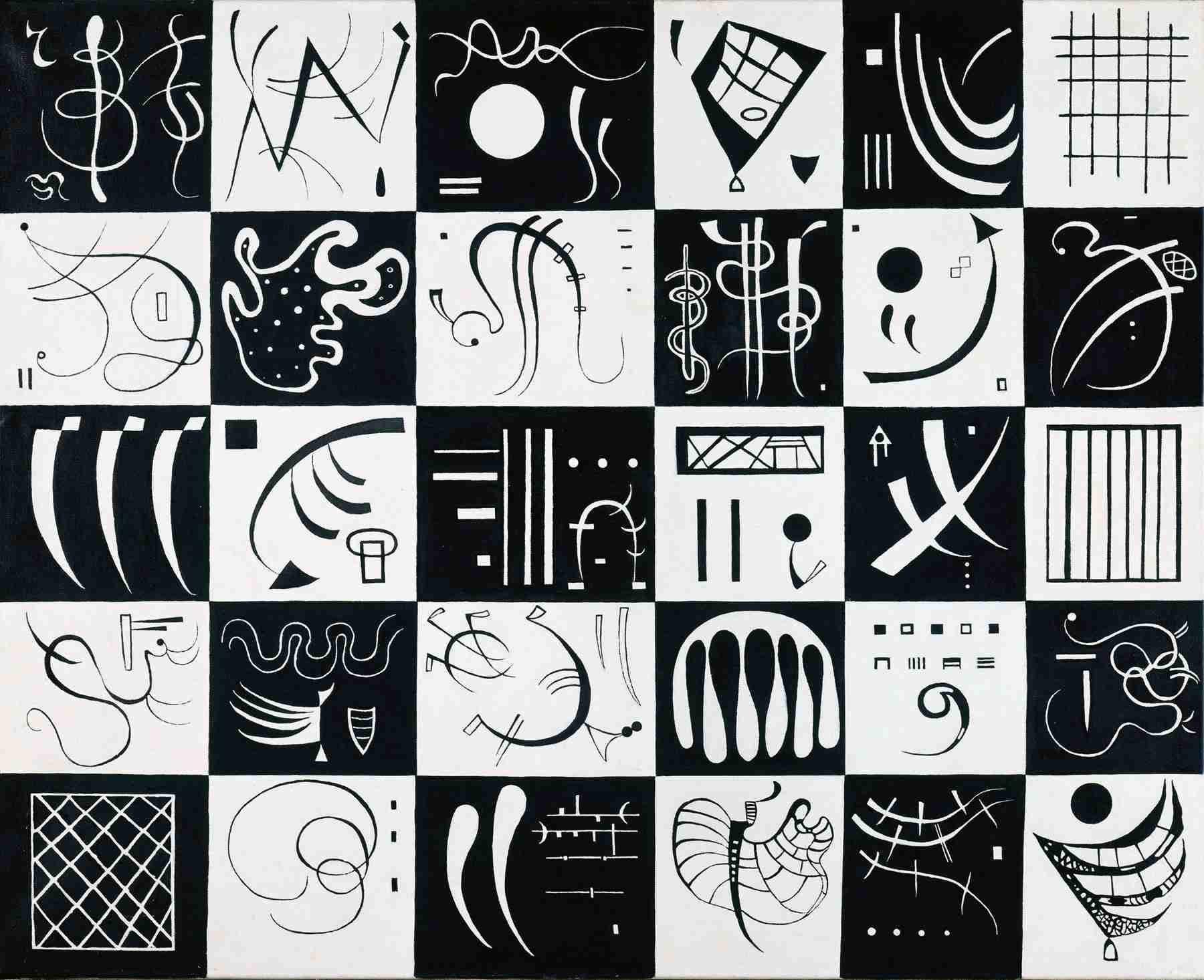 Wassily Kandinsky (Russian, 1866-1944) Wassily Kandinsky (Russian, 1866-1944). Thirty (Trente), 1937. Oil on canvas. 31 7/8 x 39 5/16 in. (81 x 100 cm). Gift of Nina Kandinsky, 1976. Musée national d'art moderne, Centre Pompidou, Paris.