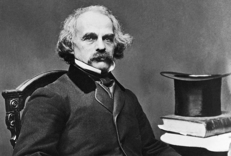 Photographic portrait of Nathaniel Hawthorne