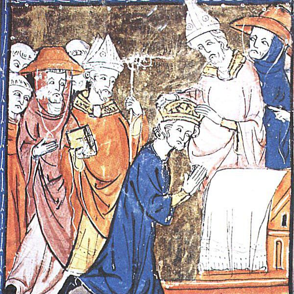 A Medieval Depiction of Leo crowning Charles