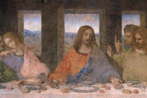 Close up of Jesus Christ in Leonardo Da Vinci's