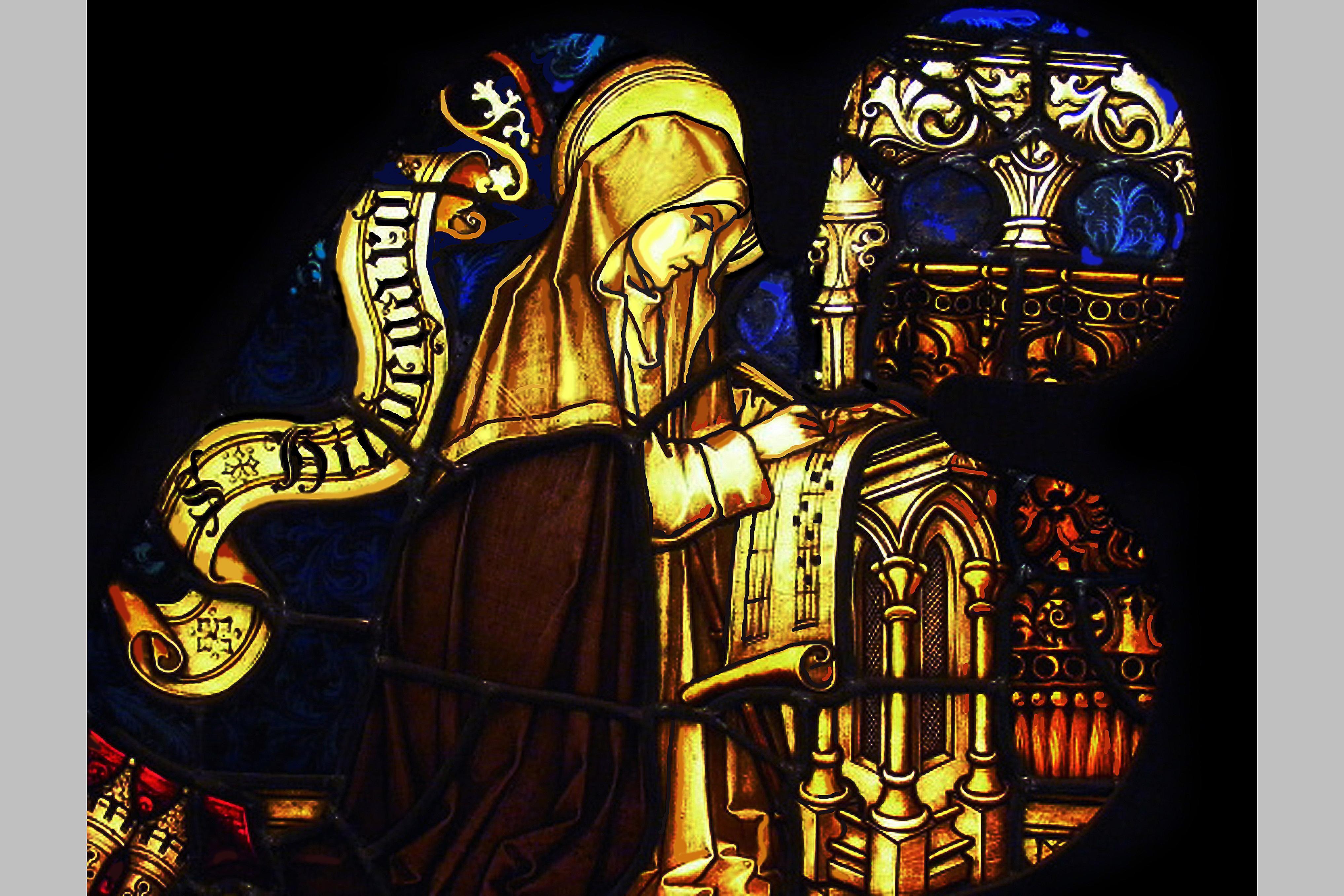 Hildegard of Bingen, from the Eibingen Abbey