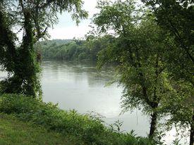 The Dan River in Danville, Virginia