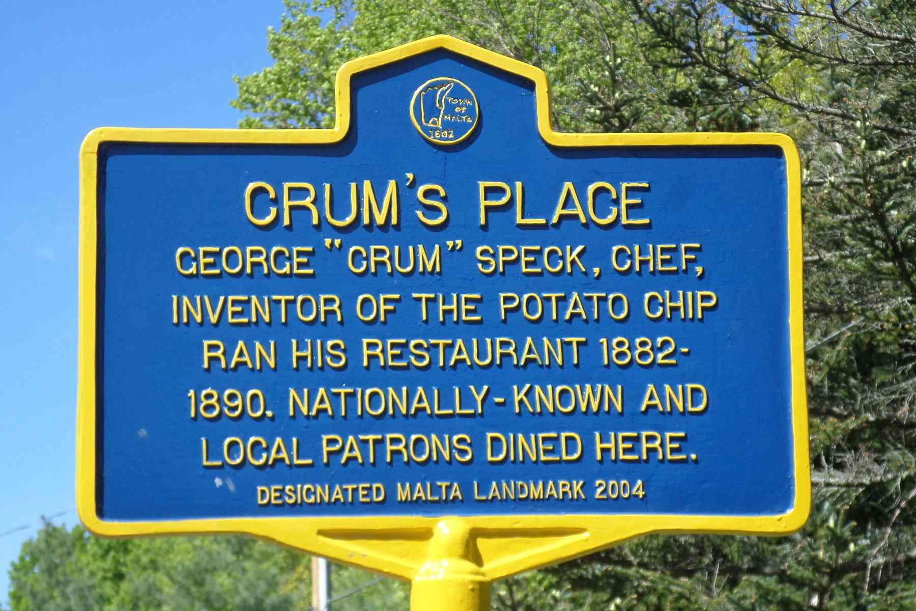 Historischer Marker des Staates New York: Crum's Place