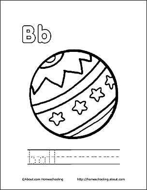 Letter B 1 Print The Pdf Ball Coloring Page And Color Picture Use Your Back Button To Return This Choose Next Printable Sheet