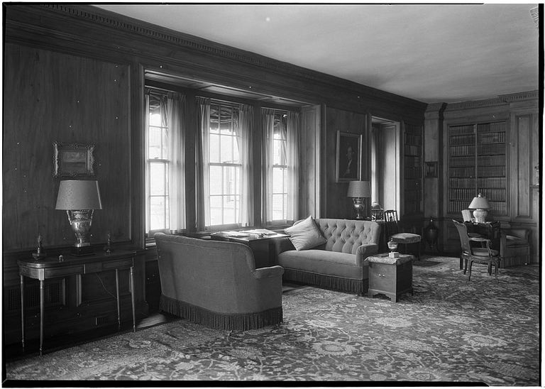 Alice Duer Miller residence. Living room window side view. East Side, Manhattan