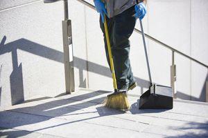 Dustpan and broom